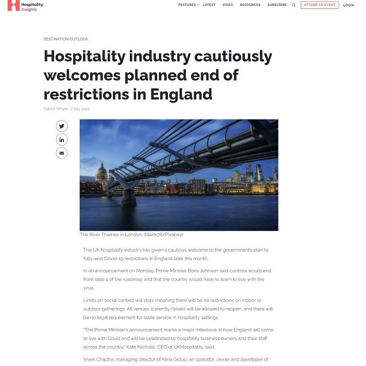 Hospitality-industry-cautiously-welcomes-planned-end-of-restrictions-in-England-Hospitality-Insights
